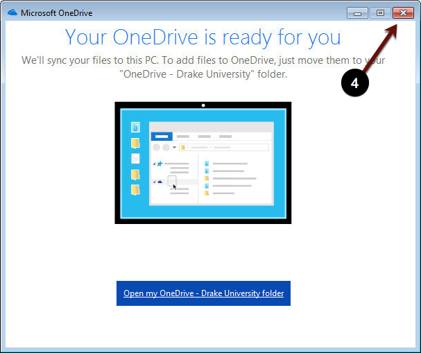 Your OneDrive is ready for you screenshot