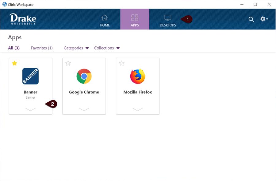 Citrix Workspace Apps screen