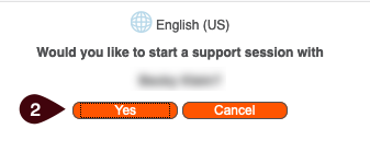 Would you like to start a support session with ITS Staff Member name?