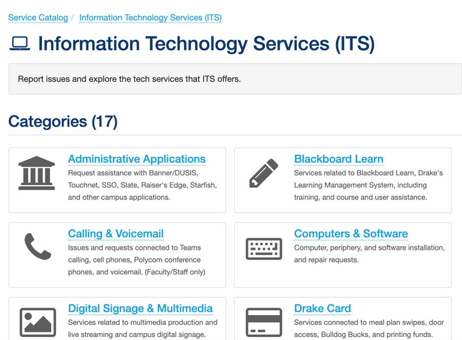 Service Categories