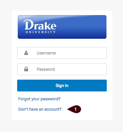 Qualtrics login page