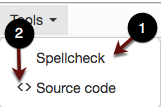 Tools menu screenshot