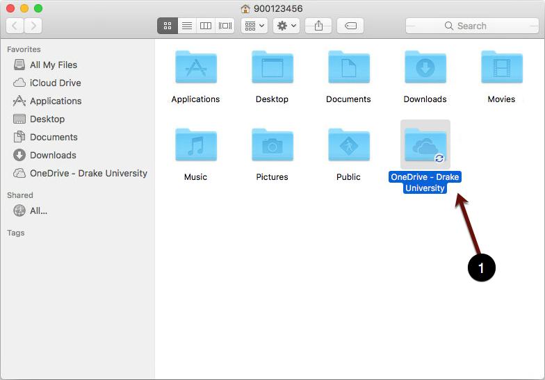 OneDrive Drake University folder screenshot