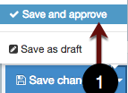 Save and approve