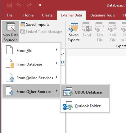 MS Access External Data Tab