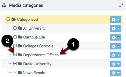 Media Categories Screenshot