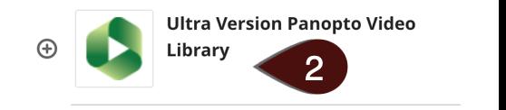 Selecting Ultra Version Panopto Video Library