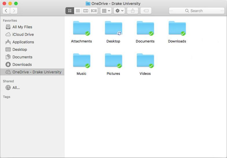 Folder synchronization status screenshot