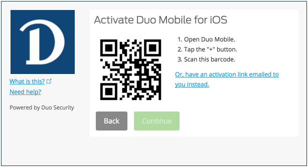 New QR code screenshot