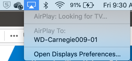 image of available airplay devices
