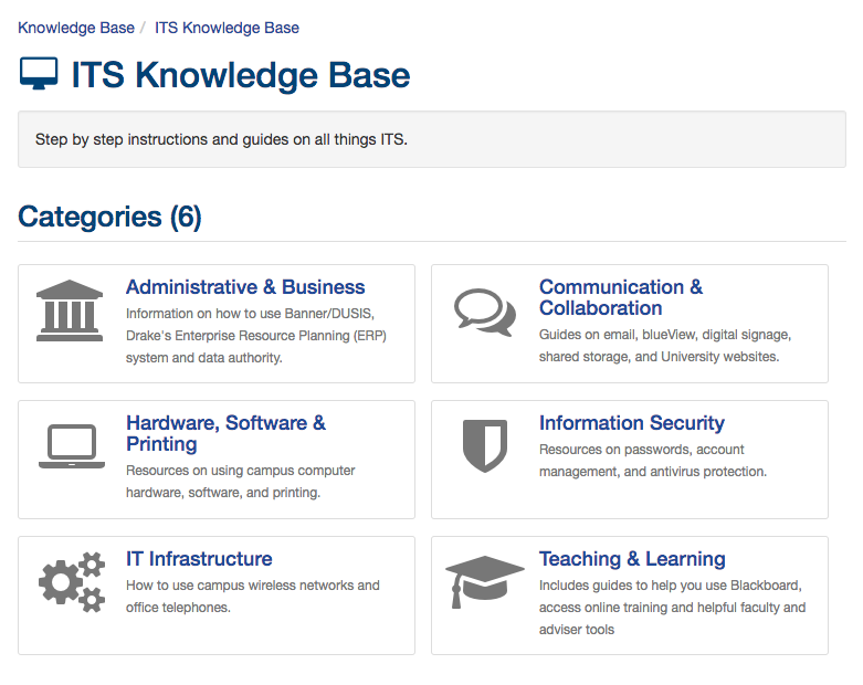Knowledge Base Categories
