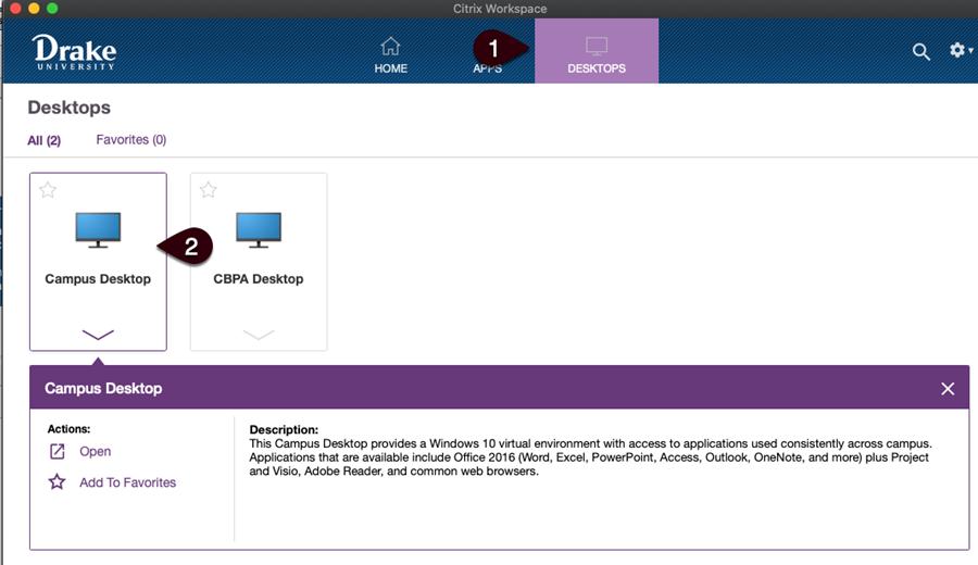 Launch Campus Desktop screen
