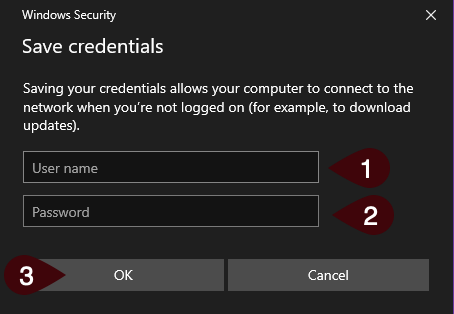 Windows Security - Login Credentials