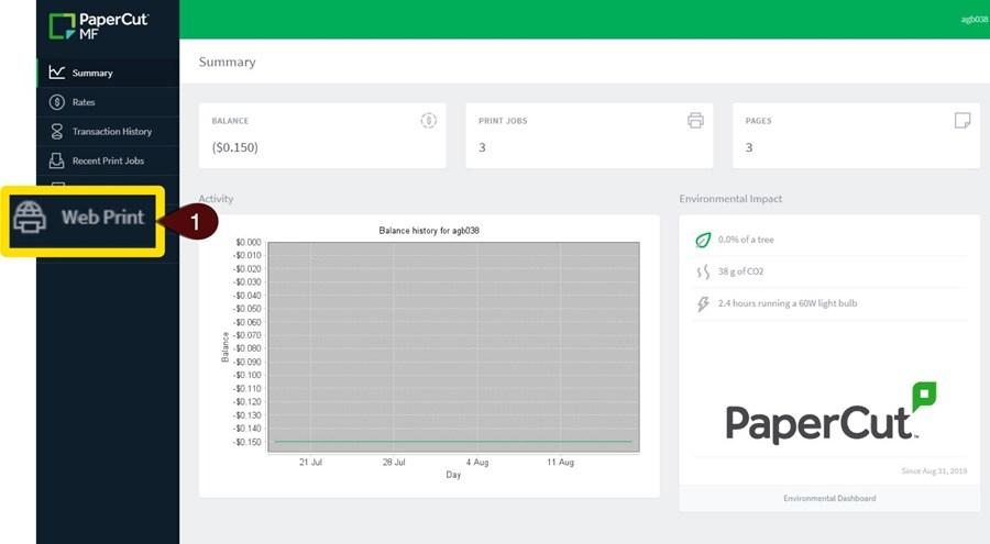 Web Print screenshot