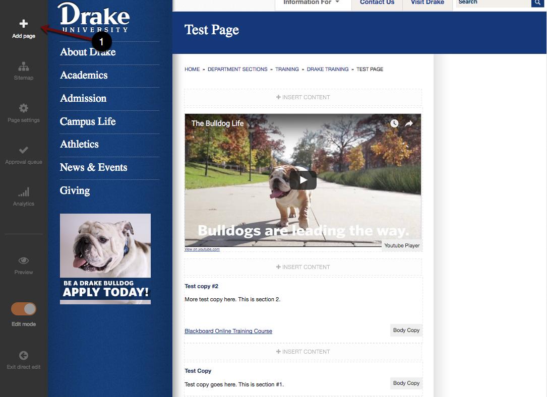 Add page screenshot