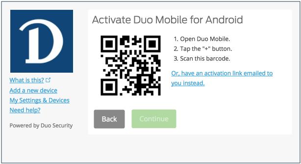 Activate Duo example screenshot