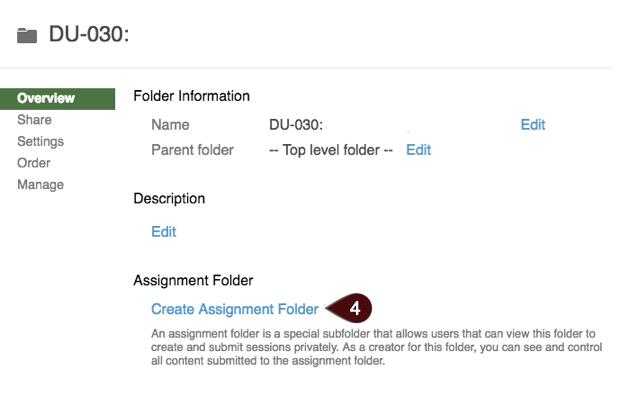 Create Assignment Folder