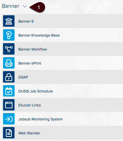 Banner Apps section