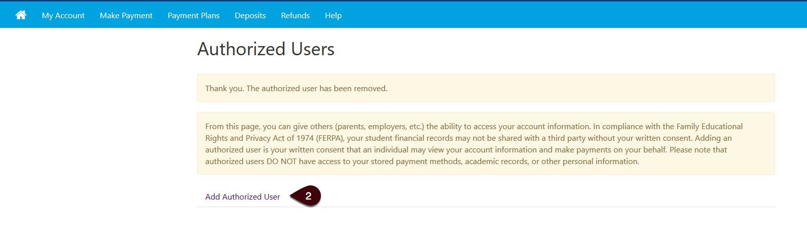 Authorized Users screenshot