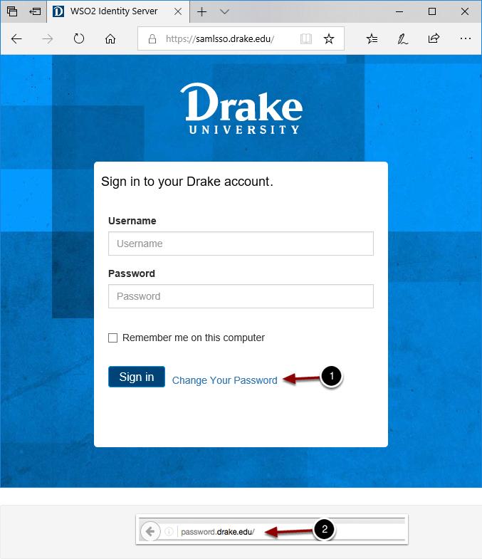 Campus sign-in or password.drake.edu login
