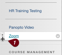 Move zoom tool menu