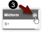 This image shows the location of the dropdown menu next to the grade column name.
