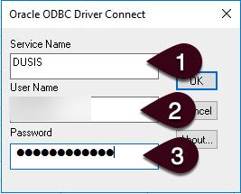 Enter ODBC Credentials