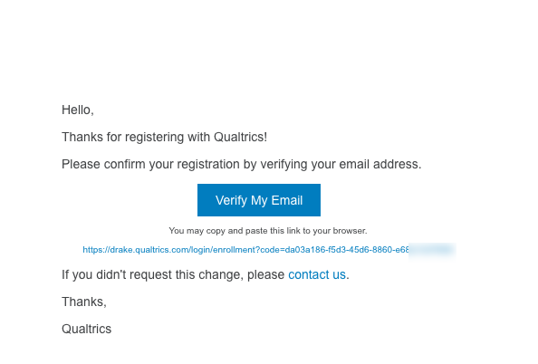 Prompt email from qualtrics